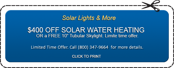 $400 off on Solar Water Heating in Florida