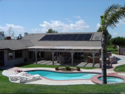 Resort with Solar Panel Roof