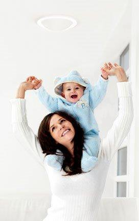 Baby cheering with his Mom